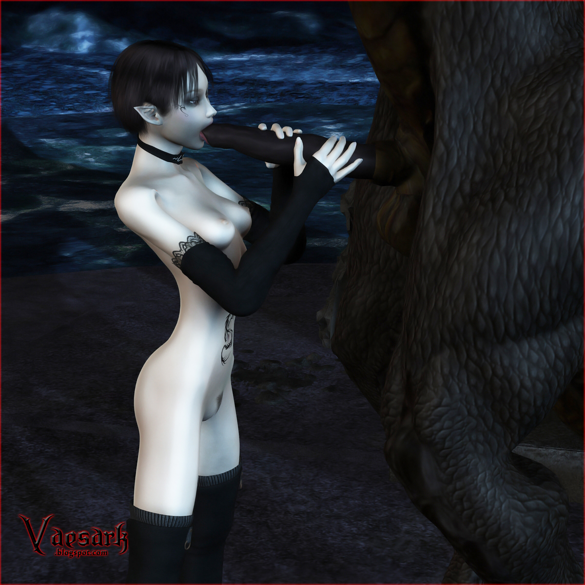 Erotic lit vixen demon naked thumbs