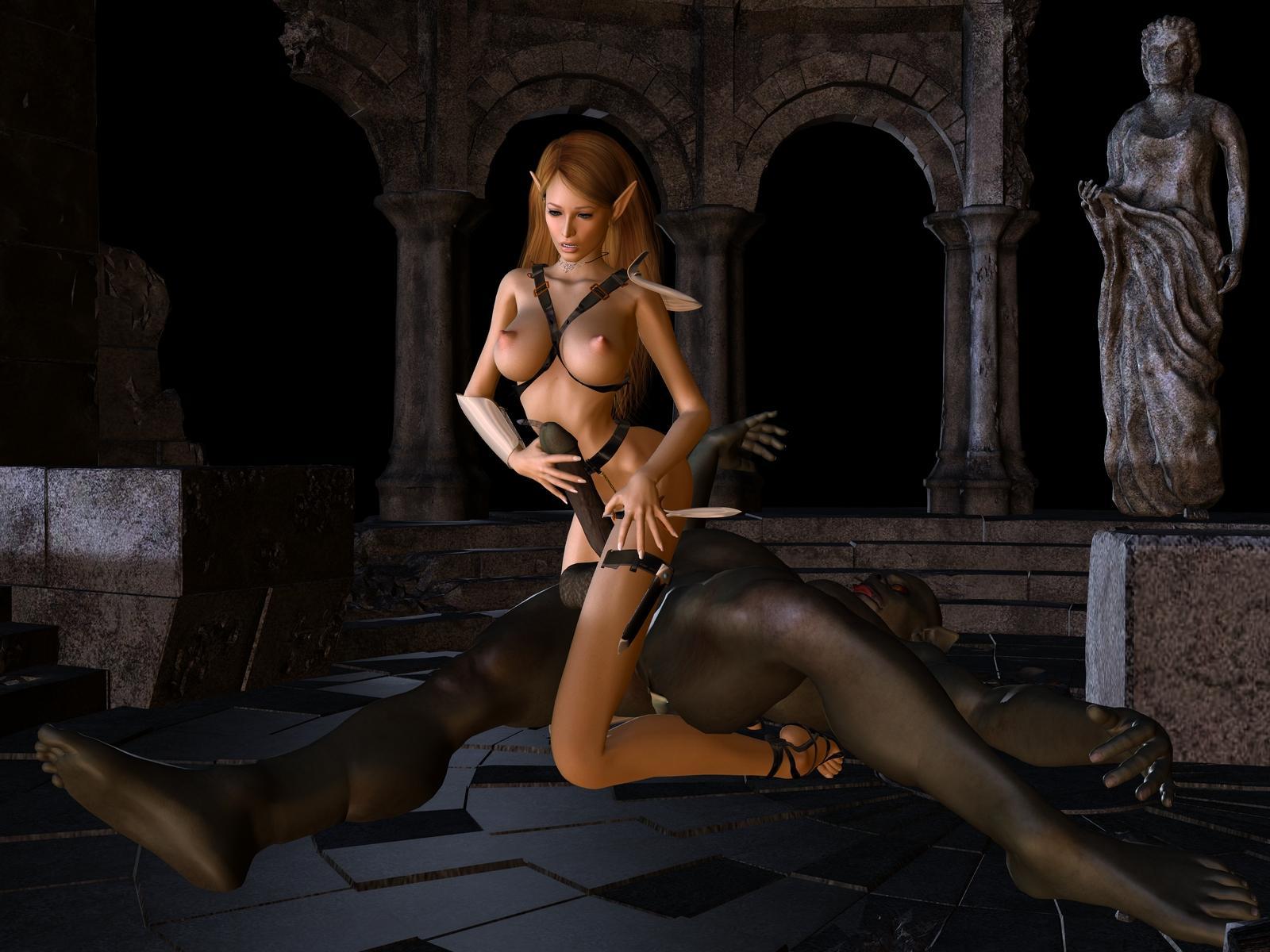 Dranie and human porncraft nude slave