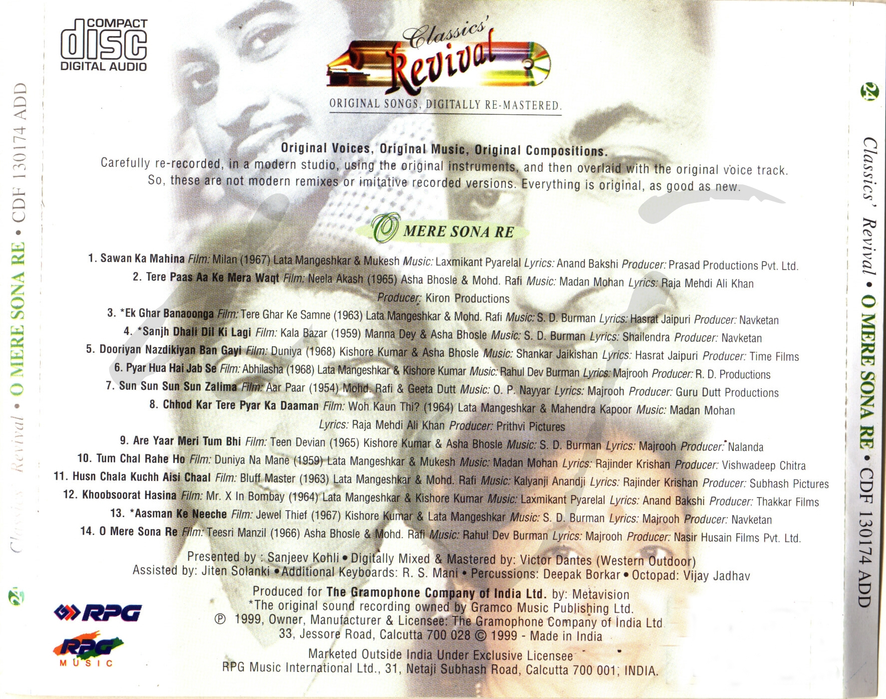 Music Director : Various Lyricist/s : Various Cassettes and CD's on :