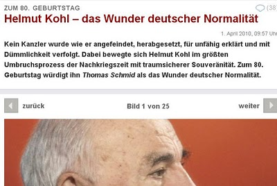 Helmut Kohl Normalitaet