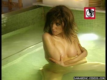 Victoria Xipolitakis topless in the jacuzzi